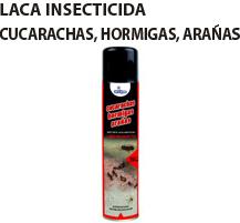 publicidad laca cucarachas, hormigas, arañas
